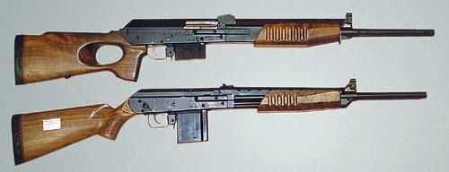 Два варианта опытного карабина «Сафари» с перезарядкой подвижным цевьем. Образцы разработаны специально для рынка Австралии, где запрещена охота с самозарядными карабинами