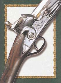 Самые первые голубиные ружья имели кремнёвый замок, были шомпольными, одноствольными, массивными и довольно неуклюжими. Проворно стрелять из них было невозможно. Одноствольное ружьё Джона Харрисона, Лондон, конец XVIII века