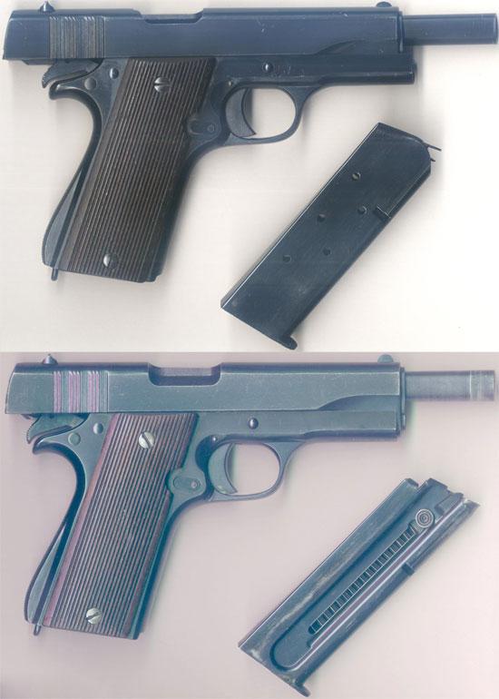 Ballester-Molina под патрон .45 ACP (сверху) и под патрон .22 LR (снизу)
