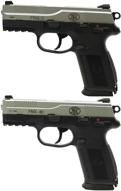 FNX-9 (сверху) и FNX-40 (снизу)