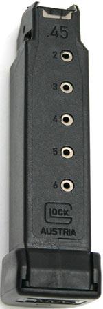 магазин емкостью на 6 патронов для Glock 36