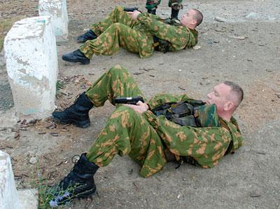 Положения для стрельбы лежа