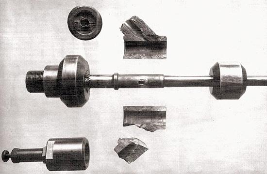 Характер разрушения баллистического оружия