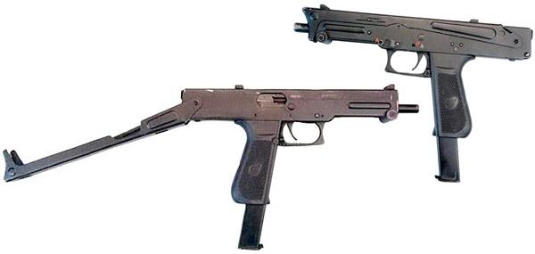 Пистолет-пулемет ПП-93 с магазином на 30 патронов (со сложенным и разложенным прикладом)
