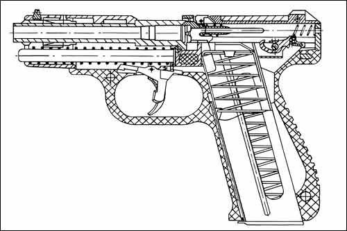 Принципиальная схема устройства одного из последних образцов ГШ-18