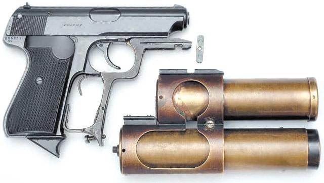 При подготовке материала мы вспомнили, что похожий пистолет экспонировался на одной из выставок в Артиллерийском музее (Санкт-Петербург). Оказалось, что это тот самый пистолет – из полигонного отчёта. И он по сей день хранится в фондах музея, где мы его и сфотографировали