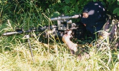 СВУ-АС (ОЦ-03АС) при стрельбе