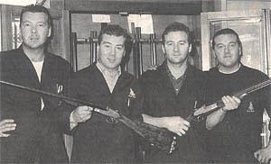 Братья Пиотти в мастерской слева направо: Серджио, Мануэль, Фабио и Руди