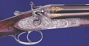 Курковая двустволка, украшенная гравером Марио Терци