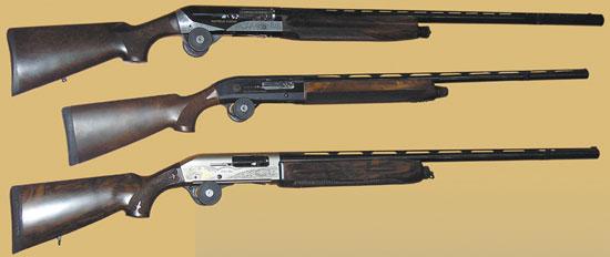 Тройка самых востребованных итальянских полуавтоматических ружей – это Benelli Raffaello, Beretta AL 391 Urika и Fabarm Lion H368