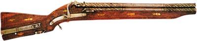 Трехствольное ружье с фитильным замком. Европа. Первая половина XVI века
