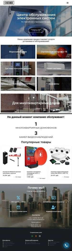 Предпросмотр для cseskk.ru — Центр обслуживания электронных систем