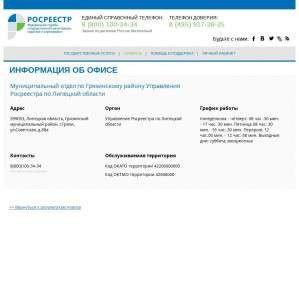 Предпросмотр для lk.rosreestr.ru — Муниципальный отдел по Грязинскому району Управления Росреестра по Липецкой области