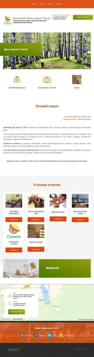 Предпросмотр для domsokol.ru — Детский оздоровительный лагерь Сокол