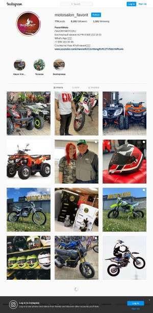 Предпросмотр для instagram.com — Мотосалон Фаворит