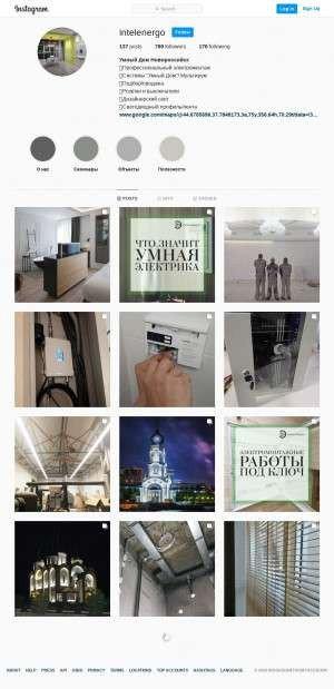 Предпросмотр для www.instagram.com — Интел Электро