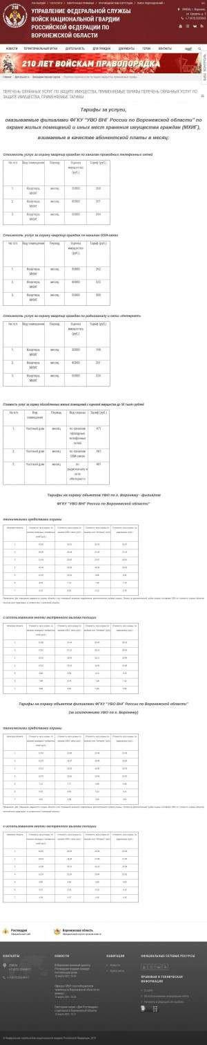 Предпросмотр для 36.rosguard.gov.ru — ОВО по г. Нововоронеж