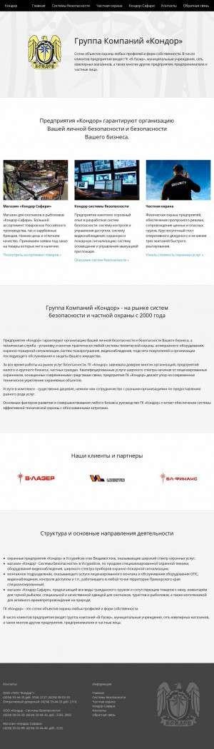 Предпросмотр для condor-dv.ru — Кондор