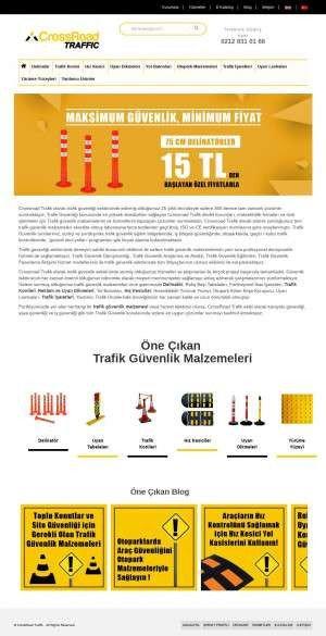 Предпросмотр для www.crossroadtrafik.com — CrossRoad Trafik Malzemeleri