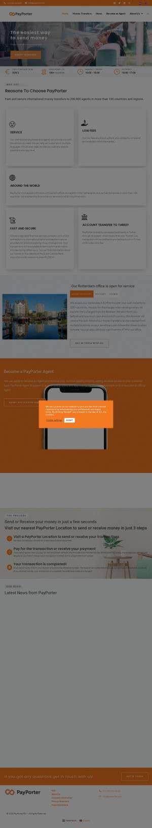 Предпросмотр для www.payporter.com — PayPorter Aksaray ubesi