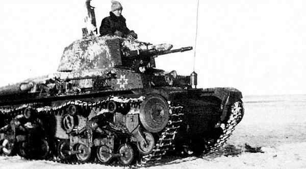 Лёгкий танк R-2 из состава дивизии «Великая Румыния» под Сталинградом. Ноябрь 1942 года.