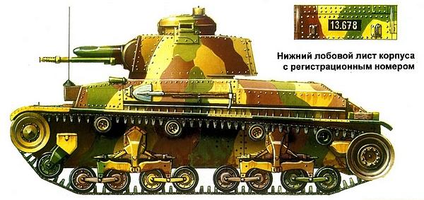 LT vz.35 в типовом камуфляже чехословацкой армии. 1937г.