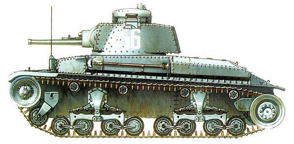 Т-11 из 1-го болгарского танкового полка. 1942г.