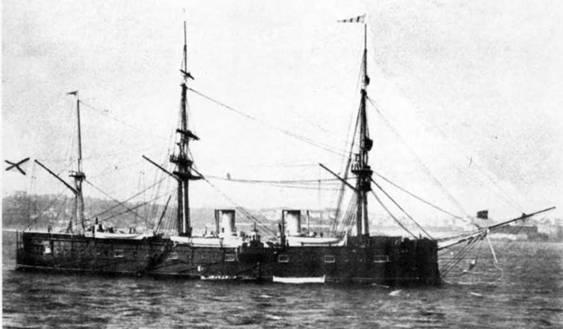 """""""Дмитрий Донской"""" в Нью-Йорке. 1893г. (два фото вверху)"""
