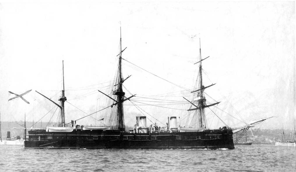 """Броненосный фрегат """"Дмитрий Донской"""" в конце 1890-х гг."""