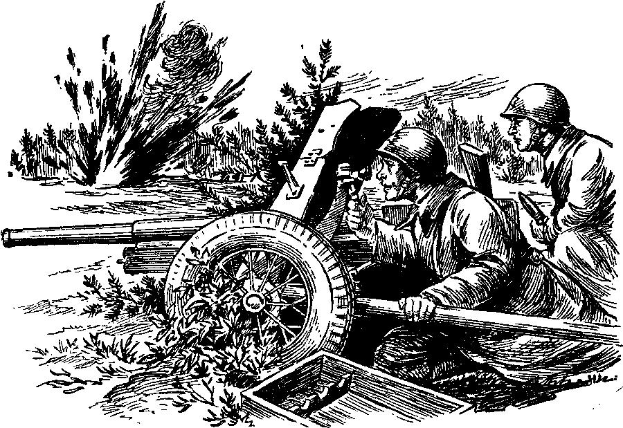 Рисунок пушка на войне