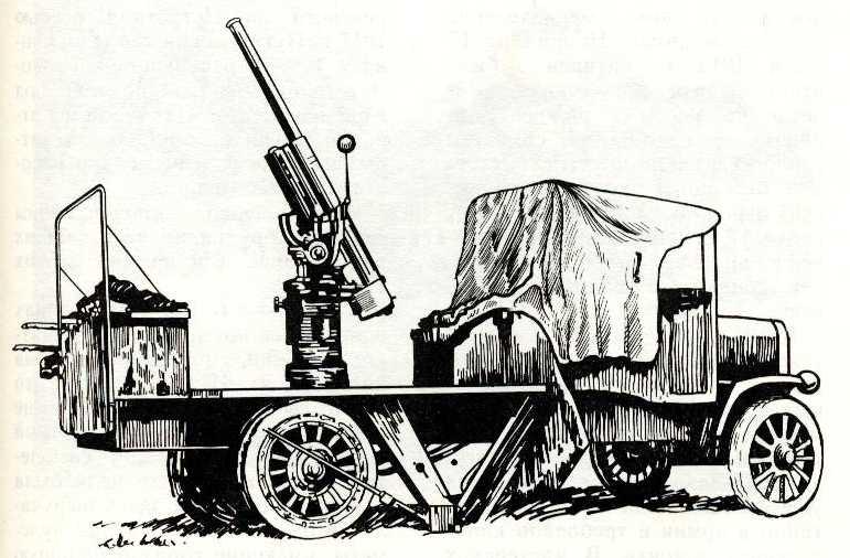 70. «Руссо-Балт-Т» с зенитным орудием