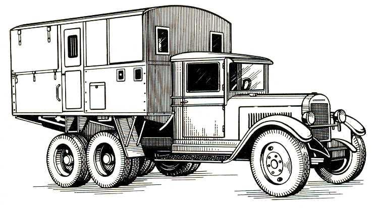 77. Агрегатный автомобиль подвижной электростанции АЭС-4