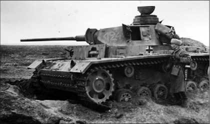 Средний танк Pz.III Ausf.L, подбитый в районе Сталинграда. Ноябрь 1942 года.