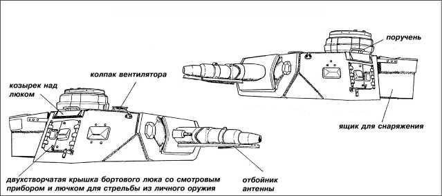 Характерные особенности башни танка Pz.IV Ausf.F1.