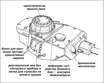 Характерные особенности башни танка Pz.IV Ausf.J.