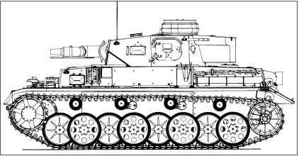 Pz.IV Ausf.E, оснащенный ходовой частью с шахматным расположением опорных катков.