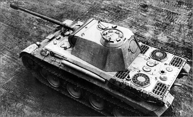 Вид сверху на «Пантеру» модификации А.