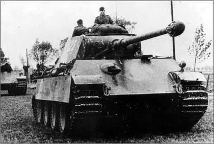 «Пантера» Ausf.G поздних выпусков без циммерита на броне.