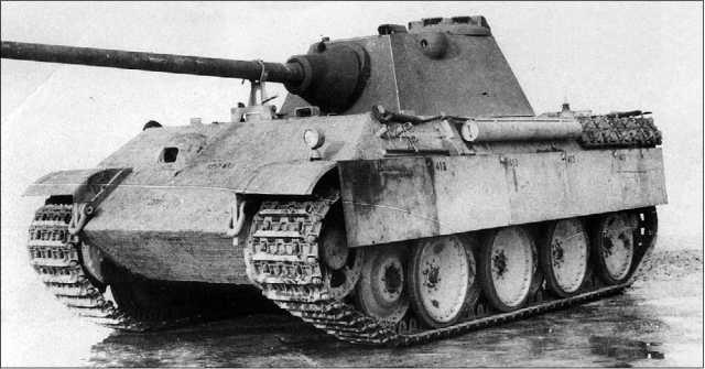 Последний вариант башни Schmalturm, установленный на корпусе танка Ausf.G. 1945 год.