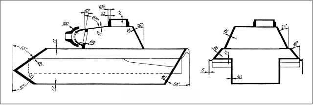 Схема бронирования танка.