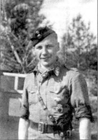 Уоррент-офицер Илмари Юуутилайнен из l/HLeLv-34, снимок 30 июня 1944г.