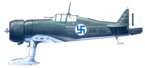 Фоккер D.XXI майора Густава Магнуссона. 1940г.