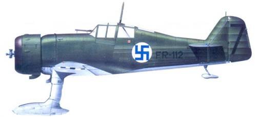 Фокке D.XXI 1-го лейтенанта Йорма Кархунена, декабрь 1939г.