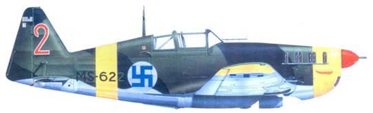 MS.406 капитана Мартти Калима, июнь 1944г.