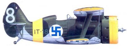 И-153 2-го лейтенанта Олави Пуро, ноябрь 1942г.