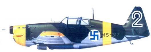 MS.406 l-го лейтенанта Пааво Миллита. 1 июля 1942г.