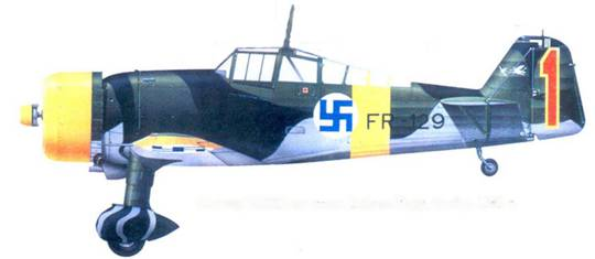 Фоккер D.XXI капитана Вейкко Кару, ноябрь 1941г.