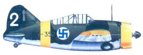 Брюстер «модель 239» сержанта Ииро Киннунена, сентябрь 1942г.