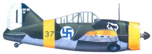 Брюстер «модель 239» стафф-сержанта Тапио Ярви, октябрь 1942г.