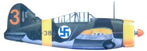 Брюстер «модель 239» 2-го лейтенанта Лаури Ниссинена, май 1942г
